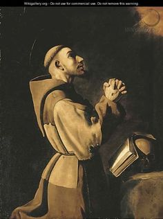 Saint Francis of Assisi in Prayer - Francisco De Zurbaran - WikiGallery.org