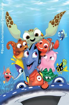 Finding Nemo by Amy Mebberson Disney Pixar, Walt Disney, Cute Disney, Disney And Dreamworks, Disney Animation, Disney Magic, Disney Art, Disney Characters, Disney Kunst