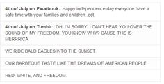 """I DO TUMBLR AND THIS IS TRUE YEEYAAAHHHH FREEDOM AMERICA WHAT'S THAT BANGING SOUND OH IT""""S OUR CANONS<<< I NEED A TUMBLR!"""