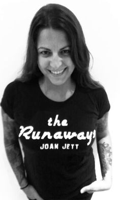 The Runaways - Joan Jett T-Shirt - Women ••• 14.99€ ✠ #LeviathanCo #tshirt #design #psychobilly #creative #create #clothes #vintage #diseño #lifestyle #rockNroll #pinup #rockabilly #hotrod #tattoos #motocicletas #bikers #camiseta #rider