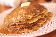 Melt in Your Mouth Oatmeal Buttermilk Pancakes #pancakes #recipe