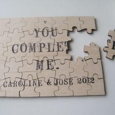 personalized puzzle...what a cute idea. I would frame this.