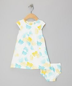 Take a look at this Turquoise Peony Organic Dress & Diaper Cover - Infant by Nosilla Organics on #zulily today!