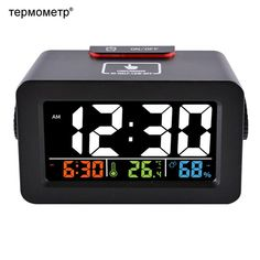 Gift Idea Bedside Wake Up Digital Alarm Clock with Thermometer Hygrometer Humidity Temperature Table Desk Clock Phone Charger. Yesterday's price: US $29.00 (25.42 EUR). Today's price: US $16.82 (14.76 EUR). Discount: 42%.