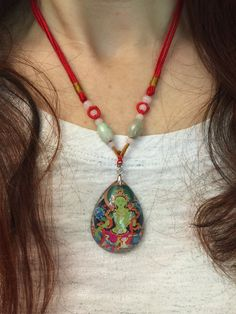 Green Tara Pendant Necklace