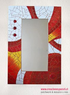 Mosaic Tile Art, Mirror Mosaic, Mosaic Glass, Glass Art, Frame Crafts, Craft Frames, Aluminum Foil Art, Mosaic Madness, Stained Glass Crafts