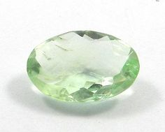 15.10Cts FINE QUALITY NATURAL GREEN FLUORITE 14X20MM OVAL CHECKER CUT GEMSTONE