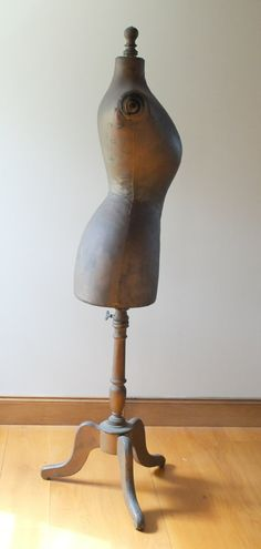 Antique French Stockman wasp waist mannequin or dress form circa 1903