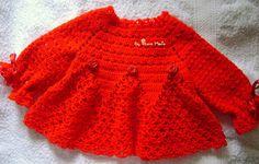 By There Maria: Casaquinho Bebe em Croche