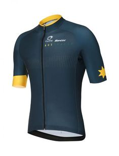 19f219967e 2018 Men s Cycling Australia CA Executive Short Sleeve Cycling Jersey by  Santini