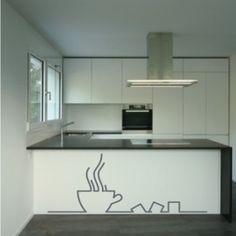 """Vinilo decorativos """"Coffe Time"""", Ideal para decorar la cocina, los armarios, o cualquier rincón de tu cocina. Personaliza el tamaño y el color. Decorar tu casa es así de fácil"""
