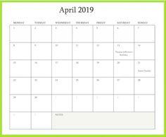 April 2019 Calendar Printable Templates April April2019