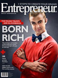 Nadine van Driel - The Open Window Alumni // 3rd year portfolio Entrepreneur business magazine cover http://www.nadinevd.co.za