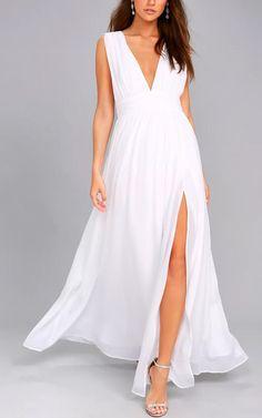 Summer Women Fashion Vestidos Sexy V Neck Sleeveless Maxi Dresses Taupe Maxi Dress, Satin Midi Dress, White Maxi Dresses, Dress Skirt, White Dress, Formal Dresses, Long Dresses, White Jumpsuit, Fall Dresses