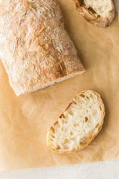 Easy Homemade Ciabatta Bread #bakedbyanintrovert #yeast #bread