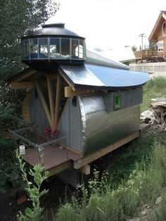 Studio in the mountains of CO by Peter Calandruccio / Observatory deck / The Green Life <3