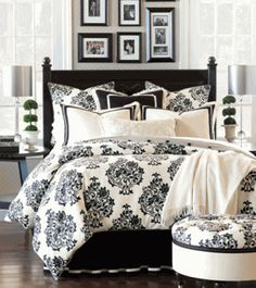 Merrimont Black and White Bedding Ensemble DesignNashville.com We will beat Wayfair pricing by 10%! Message us.