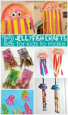 Wiggly Jellyfish Crafts for Kids to Make (Fun for summer time & learning about the ocean!) | CraftyMorning.com