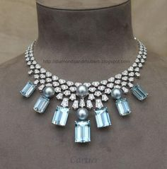 Cartier- I adore aquamarine and the cut of the gemstone!