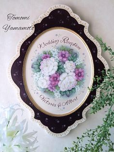バラとアネモネのWedding Bouquet 制作 山本智美/Tomomi Yamamoto