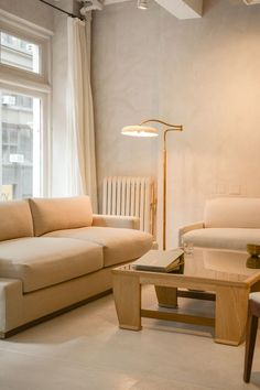 Dmitriy & Co.'s New York City Atelier Living Room Designs, Living Spaces, Bespoke Sofas, Interior Decorating, Interior Design, Breath Of Fresh Air, Wood Pieces, Elegant Homes, Mid Century Design