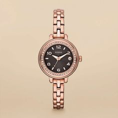 FOSSIL® Watch Collections Bridgette Watches:Women Bridgette Mini Stainless Steel Watch - Rose AM4367