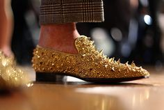 Glitzy, spiked men's shoes by Christian Louboutin