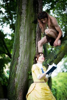 Positively gorgeous shot of a cosplay of Tarzan and Jane.