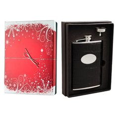 Visol Products Essential II Crocodile Leatherette Holiday Liquor Flask Gift Set Finish: