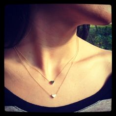 Small Gold Heart Necklace  NEW  Crosses  XOs & Circles by JIOIA, $22.00