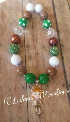 Chunky bead necklace girls scouts Little Girl Jewelry, Kids Jewelry, Jewelry Making, Chunky Bead Necklaces, Chunky Beads, Kids Necklace, Girls Necklaces, Beaded Jewelry, Beaded Necklace