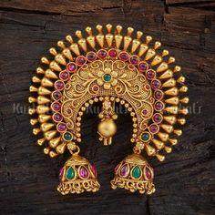 Antique Hair Brooch 108363 Fancy Jewellery, Silver Jewellery Indian, Gold Jewellery Design, Stylish Jewelry, Fashion Jewelry, Bridal Jewellery, Jewelry Design Earrings, Ear Jewelry, Necklace Designs
