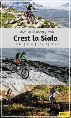 Biking in Flims, Switzerland: Crest la Siala. A short, yet challenging route through the mountains of Flims. Downhill fun all the way! Seen, Mountain Biking, Switzerland, Trail, Bike, Explore, Adventure, Mountains, Water