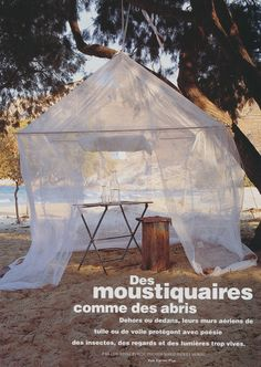 I love this shimmering translucent tent taken from Marie Claire Maison. Perfect for garden parties #summerdining