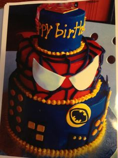 Most heroic cake ever! Fun for a little boys birthday party!