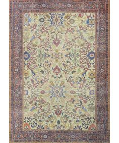 ANTIQUE PERSIAN MAHAL RUG - Antique Rugs - $15,000.00 - Carpet Culture | Rug Store in Manhattan | Carpet Cleaners - ON SALE!