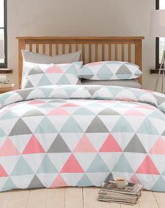 Triangle Geometric Duvet Cover Set | Home Essentials