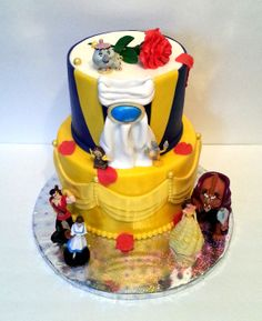 Beauty and the Beast - I saw a cake similar to this by Sweet Pea Cakes and was waiting forever to do it. Finally students from my daughters school performed Beauty and the Beast Junior and I got my chance!