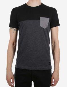 iriedaily - Block Pocket Tee black