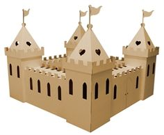 cardboard princess castle...you can paint it what ever color you want!