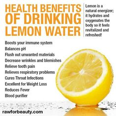Lemon water is my favorite