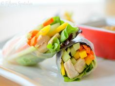 Fresh spring rolls are so easy to make and great for hot summer nights MAKING For Peanut Dipping Sauce 1. In a bowl mix together coconut milk peanut butter...
