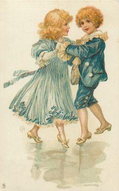 Ellen Jessie Andrews - English (1857-1907)- vintage postcard