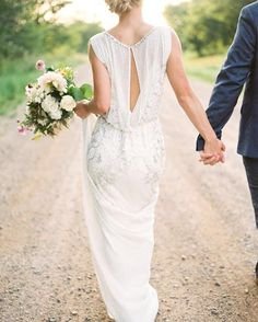 gorgeous light weight wedding gown with a open slit in the back