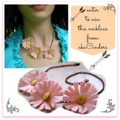 Felt Flower Necklace Giveaway