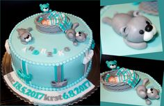 torta, cake ku krstu s medvedíkmi