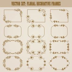 Vector set of floral decorative frames design 05 - https://www.welovesolo.com/vector-set-of-floral-decorative-frames-design-05/?utm_source=PN&utm_medium=wcandy918%40gmail.com&utm_campaign=SNAP%2Bfrom%2BWeLoveSoLo