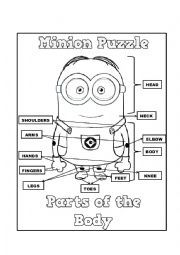 body parts minions worksheets - Buscar con Google