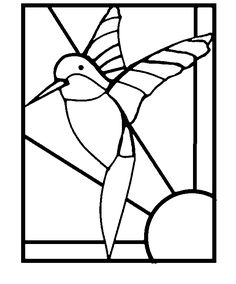 Mosaic Templates Printable | FREE HUMMINGBIRD HUMMINGBIRDS STAINED GLASS STEPPING STONE PATTERNS
