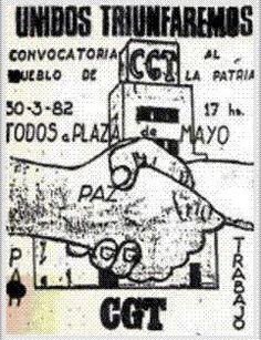 """A 30 años de la marcha """"Paz, Pan y Trabajo"""" #CGT"""